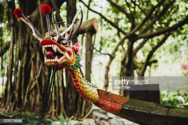 the head of a dragon boat - dragon boat 個照片及圖片檔