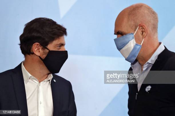 The Head of Government of the Autonomous City of Buenos Aires, Horacio Rodriguez Larreta and Buenos Aires Province Governor Axel Kicillof, both...