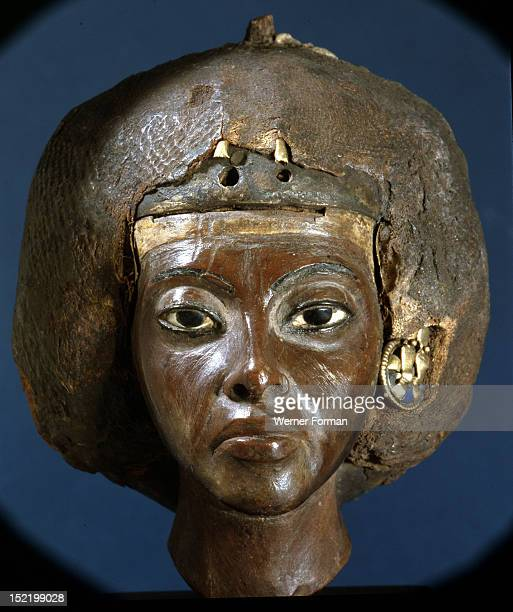 The head of Queen Tiye wife of Amenophis III and mother of Akhenaten Egypt Ancient Egyptian 18th dynasty c 1403 1365BC