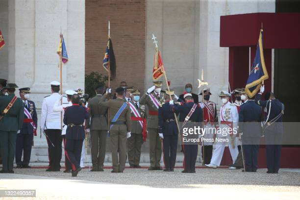 The head of state and supreme commander of the Armed Forces, King Felipe VI , presides over the extraordinary ceremony at the Royal Palace of...