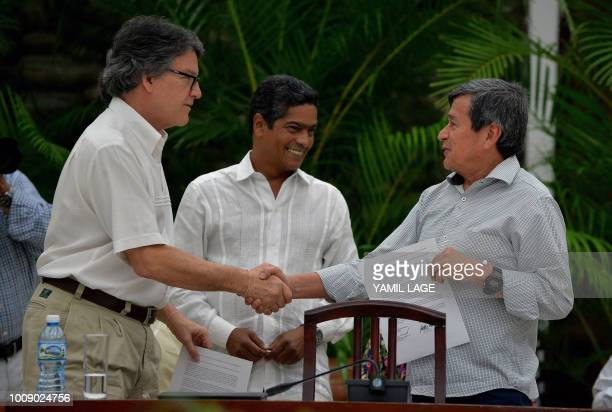 The head of the Colombian government delegation for the peace talks with the ELN guerrillas Gustavo Bell and The chief negotiator of Colombia's last...