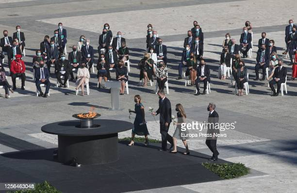 The head of the Emergency department of the Vall d'Hebron Hospital Aroa López King Felipe VI Princess Leonor and Hernando Calleja brother of...