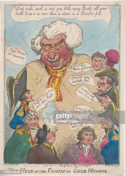 The Head of the Family in Good Humour, January 15, 1809. Artist Thomas Rowlandson.