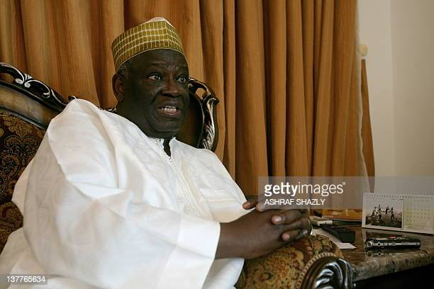 The head of the joint African UnionUnited Nations peacekeeping mission in Darfur Ibrahim Gambari speaks during an interview with the AFP on January...