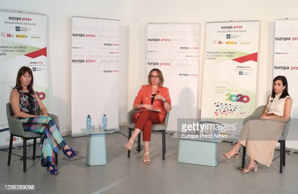 The head of the Neurology Service of the Moises Broggi Hospital Barcelona Ester Moral the director of Communication Europa Press Lola Muriel and...