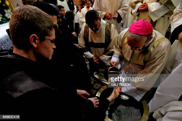 The head of the Roman Catholic Church in the Holy Land Apostolic Administrator of the Latin Patriarchate Pierbattista Pizaballa conducts the...