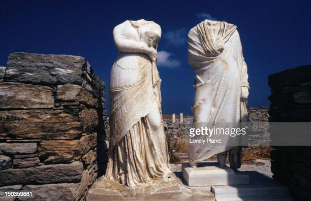 The headless statues of Cleopatra and Dioscrides.