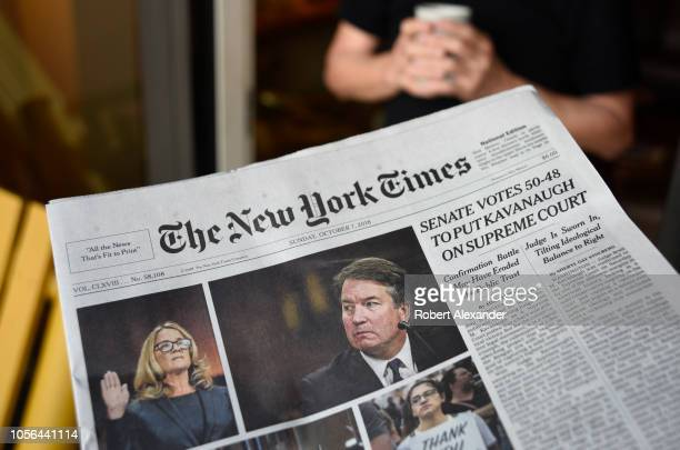The headline on the front page of The New York Times declares that the United States Senate confirmed the nonination of Brent Kavanaugh to the US...