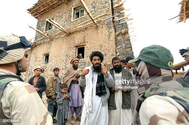 The headman of a Pashtun village on the border with Pakistan confronts US soldiers