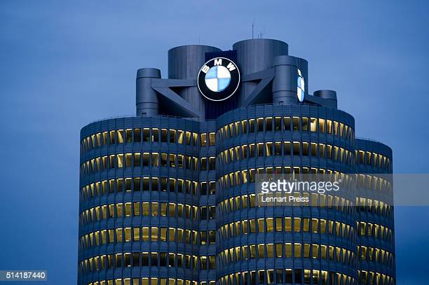 The headquarter of German automaker BMW is pictured after the celebration marking the 100th anniversary of BMW on March 7 2016 in Munich Germany BMW...