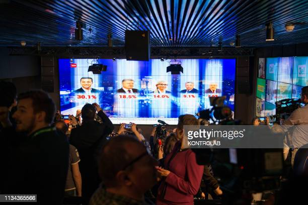 The Headquarter of Ukrainian Presidential election candidate Vladimir Zelensky Vladimir Zelensky who in the first round got 30% of the votes in the...