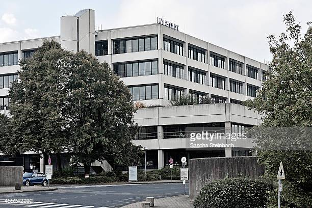 The headquarters building of German retail chain Karstadt is seen during a meeting of the Karstadt governing board on September 11 2014 in Essen...