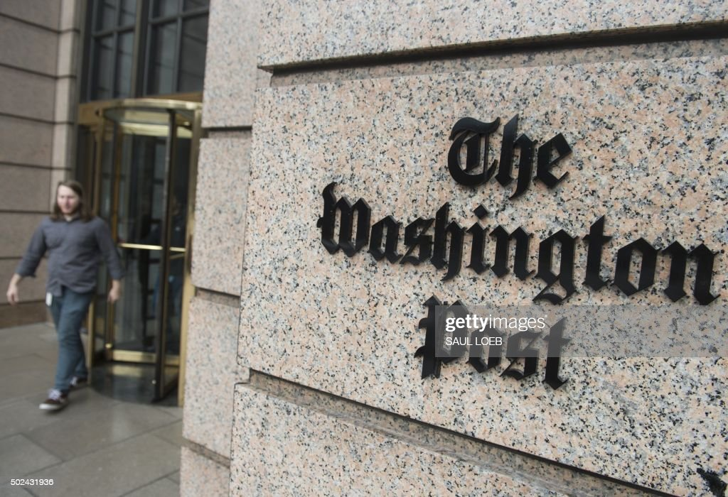 US-BUSINESS-WASHINGTON POST : News Photo