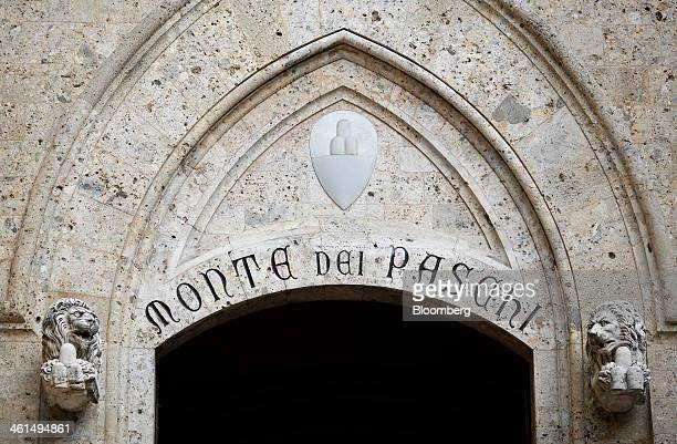 The headquarters of Banca Monte dei Paschi di Siena SpA bank stand in Siena Italy on Wednesday Jan 8 2014 Monte Paschi the bailed out Italian bank is...