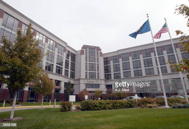 The headquarters of Blue Cross Blue Shield health insurer Anthem Inc is seen October 27 in Indianapolis Indiana Anthem announced it will acquire...