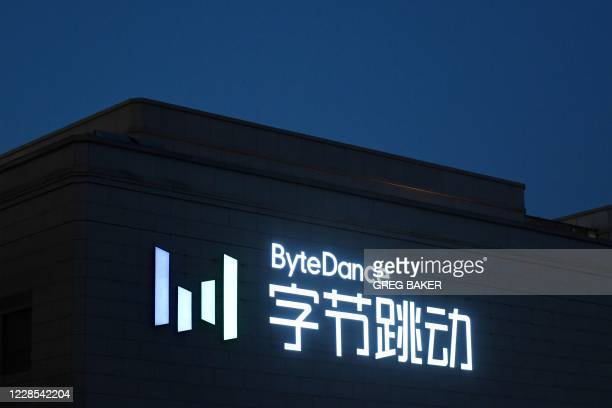 The headquarters of ByteDance, the parent company of video sharing app TikTok, is seen in Beijing on September 16, 2020. - Silicon Valley tech giant...