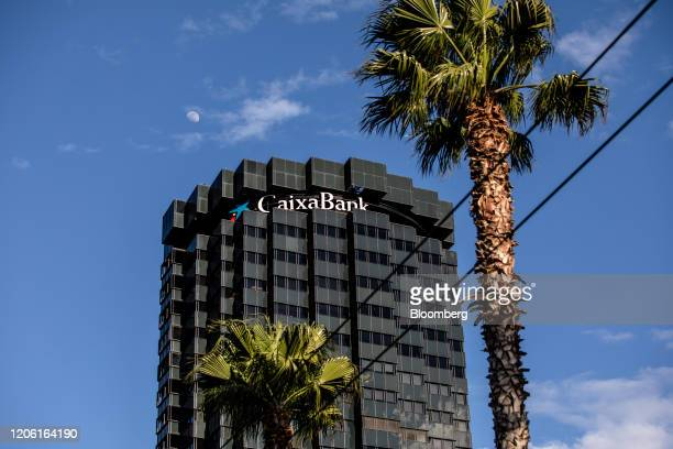 The headquarters of CaixaBank SA stands in Barcelona Spain on Thursday March 5 2020 Spanish bank shares soared after the European Unions top court...