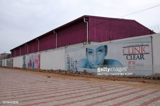 The headquarters of cosmetics manufacturing company Dodo Cosmetics producer of lightening creams are pictured in Lome on July 1 2018 Africa is...