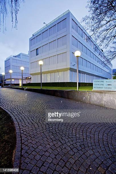 The headquarters of Glencore International Plc are seen in Baar, Switzerland, on Monday, March 19, 2012. Glencore International Plc Chief Executive...