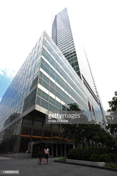 The headquarters of investment banking and securities firm Goldman Sachs in lower Manhattan on June 22 2012 in New York Ratings agency Moody's...
