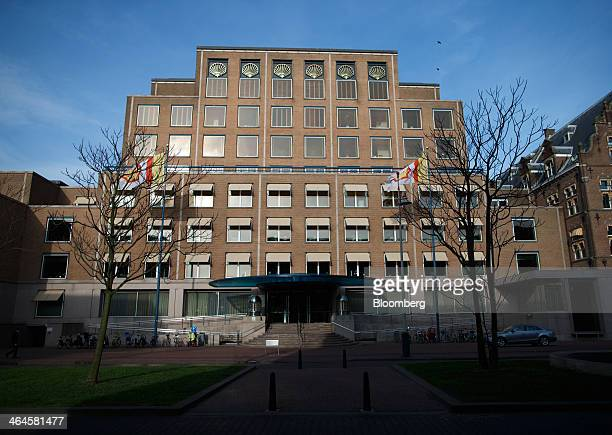 The headquarters of Royal Dutch Shell Plc stands in The Hague, Netherlands, on Wednesday, Jan. 22, 2014. Europe's biggest oil company, in its first...