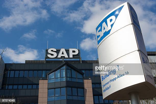 The headquarters of SAP AG stand in Walldorf Germany on Monday March 8 2010 SAP AG and Deutsche Telekom AG's TSystems entered a global services...