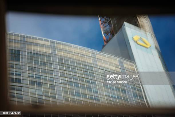 The headquarters of the Commerzbank AG reflected by a glass facade in the city centre of Frankfurt/Main Germany 09 February 2017 The executive board...