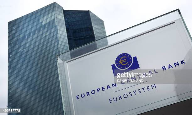 The headquarters of the European Central Bank is pictured in Frankfurt am Main western Germany on December 3 2015 The European Central Bank cut one...
