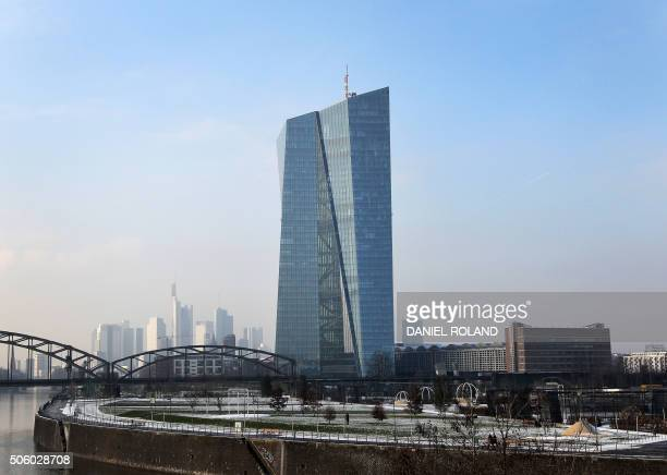The headquarters of the European Central Bank is pictured in Frankfurt am Main western Germany on January 21 2016 The European Central Bank left its...
