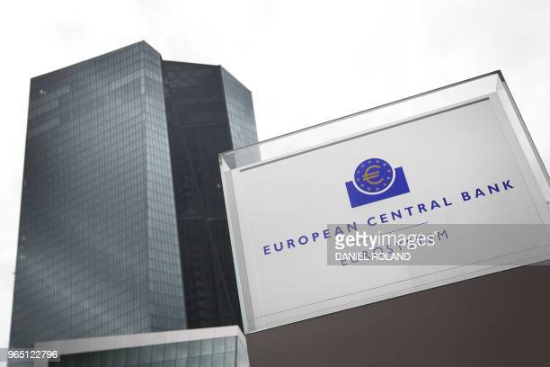The headquarters of the European Central Bank is pictured in Frankfurt am Main western Germany on June 1 2018
