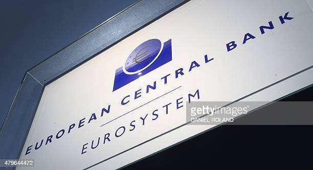 The headquarters of the European Central Bank is seen in Frankfurt am Main central Germany on July 6 2015 All eyes were on the European Central Bank...