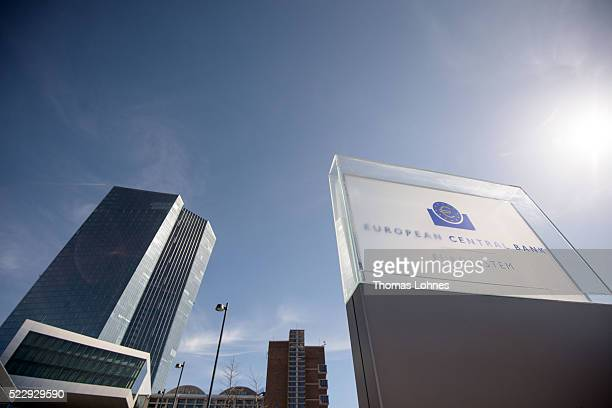 The headquarters of the European Central Bank pictured on April 21 2016 in Frankfurt am Main Germany