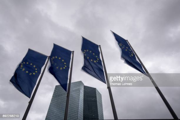 The headquarters of the European Central Bank pictured on December 14 2017 in Frankfurt Germany Today's was the last meeting of the year and comes on...