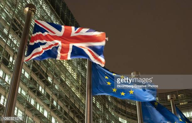 the headquarters of the european commission - brexit stock pictures, royalty-free photos & images