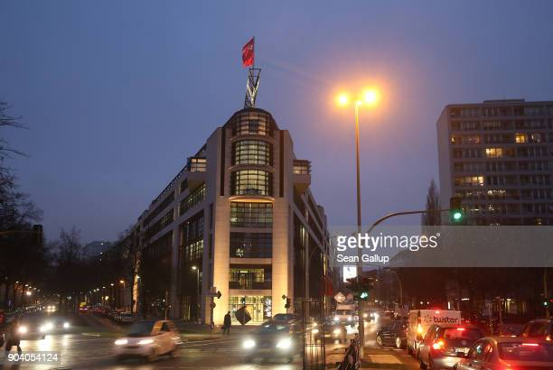 The headquarters of the German Social Democrats where inside German Chancellor and head of the German Christian Democratic Union Angela Merkel SPD...