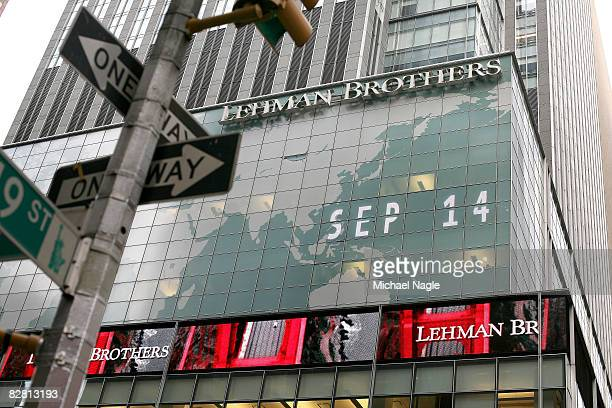 The headquarters of the Lehman Brothers investment bank on Sixth Avenue September 14, 2008 in New York City. The troubled Wall Street investment bank...