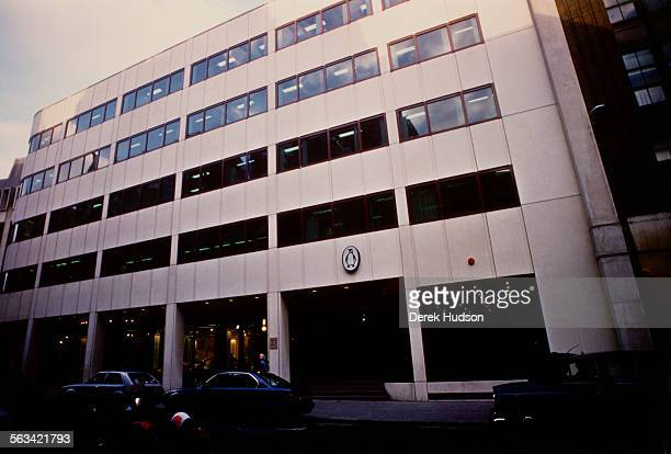 The headquarters of the Penguin publishing company in London, UK, during the controversy following their publication of Salman Rushdie's novel 'The...