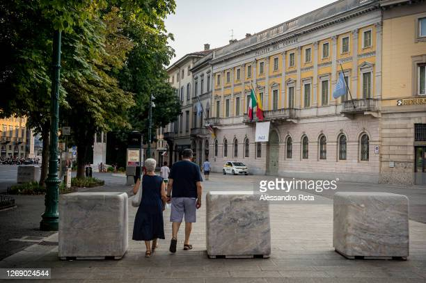 The headquarters of the Province of Bergamo on August 1,2020 in Bergamo,Italy. Bergamo was hit hard by the first wave of the Covid-19 Pandemic,...