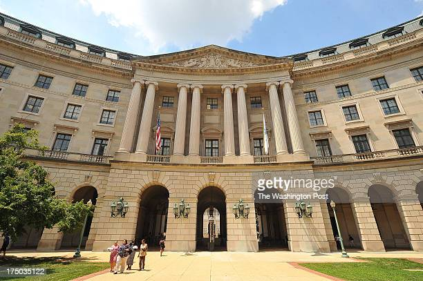 The headquarters of the United States Environmental Protection Agency which is now called the William Jefferso Clinton Federal Building is seen on...