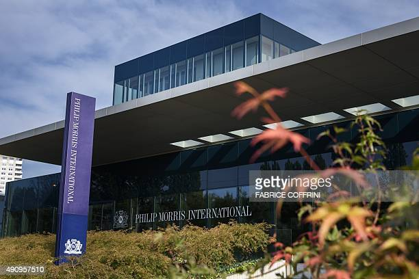 The headquaters of Philip Morris International is photographed on October 2 2015 AFP PHOTO / FABRICE COFFRINI / AFP / FABRICE COFFRINI