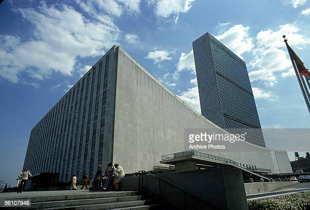The headquaters of the United Nations in New York City, mid 1960s.