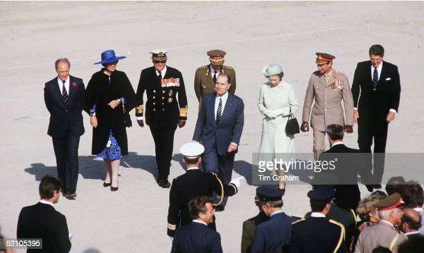 The Heads Of State Of The Allied Countries Gathered On Utah Beach In Normandy To Commemorate The Normandy Landings During The Second World War L To R...