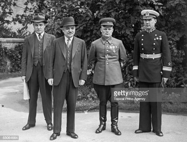The heads of the Russian Army Navy and Airforce meet in London to collaborate with Britain against Germany during World War II 9th July 1941 From...