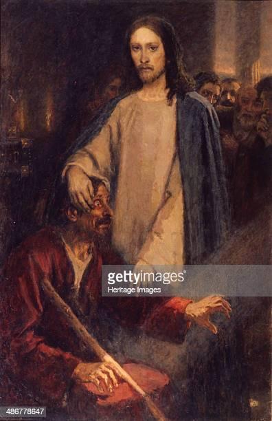 The Healing of the Blind Man of Jericho 1888 Artist Surikov Vasili Ivanovich