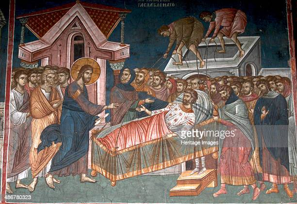 The Healing the paralytic at Capernaum ca 1350 Artist Anonymous