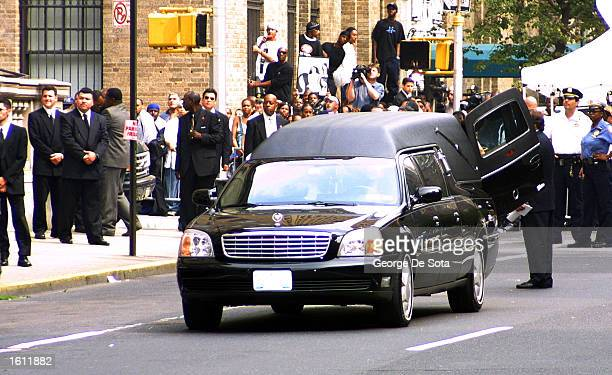 The hearse carrying the body of the late RB singer Aaliyah leaves St Ignatius Loyola Church August 31 2001 in New York City The 22yearold singer died...