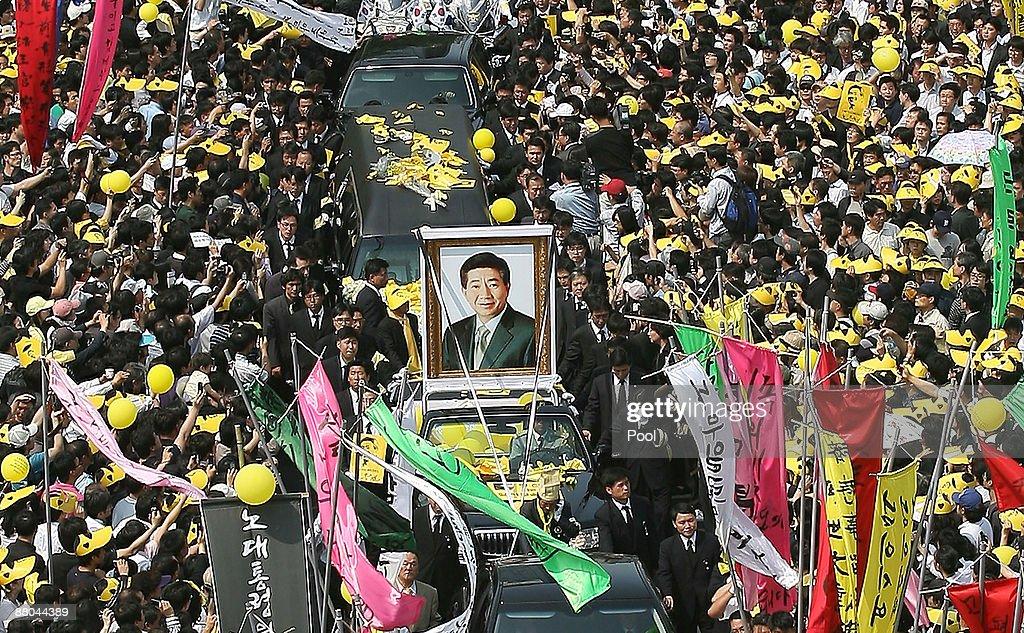 Former President Roh Moo-hyun's Funeral Held In Seoul : ニュース写真
