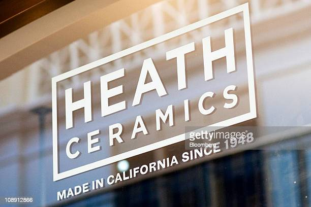 The Heath Ceramics Ltd logo is displayed at the company's store at the Ferry Building in San Francisco California US on Saturday Feb 5 2011 Robin...