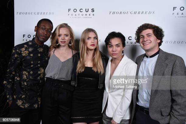 The Heathers attend the premiere of Focus Features' 'Thoroughbreds' at Sunset Marquis Hotel on February 28 2018 in West Hollywood California