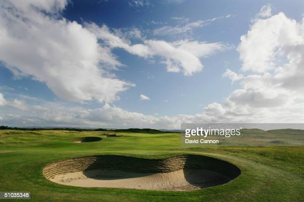 The heavily bunkered appraoch to the par 5 3rd hole on the Royal Liverpool Golf Course on June 10 2004 in Hoylake England